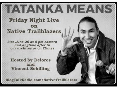 Cover art for Friday Night Live with actor, comedian & Native superhero, Tatanka Means!