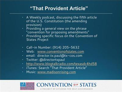 That Provident Article