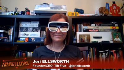 Cover art for Triangulation 419: Jeri Ellsworth and Tilt Five Tabletop AR - Augmented Reality Holographic Tabletop Gaming by Tilt Five