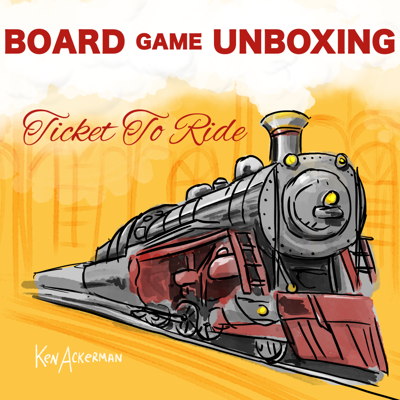 Cover art for 859 - Sleepy Ticket to Ride   Bored Game Unboxing