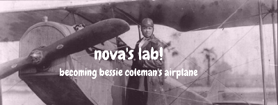 Cover art for Nova's Lab! Becoming Bessie Coleman's Airplane