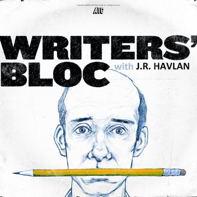 J.R. Havlan, 17-year veteran writer for The Daily Show with Jon Stewart, picks the complicated and jittery brains of the writers who help create The Daily Show, The Colbert Report, 30 Rock, Letterman, SNL, The Office, and more. Writers' Bloc Podcast will let you in on how blank pages become your favorite television comedies.  You love the sausage, now hear how it gets made.
