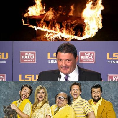 Cover art for #TTFP Vol. 18 -- Coach O Crushes NSD, Magic Buttcrack, Best LSU O Performance Ever, Pool Table Fire