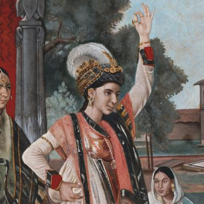 Cover art for The Courtesan and the Memsahib: Khanum Jan Meets Sophia Plowden at the 18C Court of Lucknow