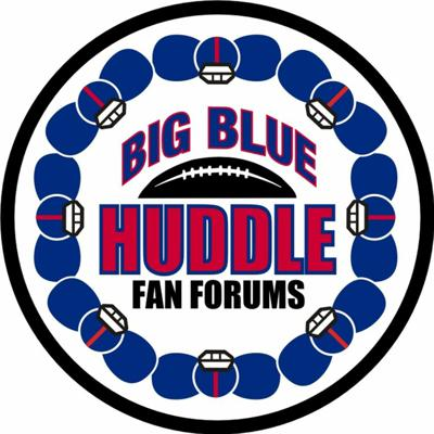 Cover art for Big Blue Huddle NYG Training Camp Podcast