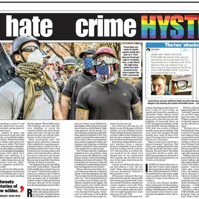 Cover art for The Suspicious Rise of Hate Crimes in Portland ft. Ben Shapiro