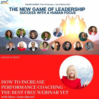 Cover art for How to increase performance coaching – The best free webinar yet – Mary-Anne Quezel