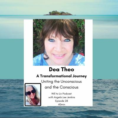 Cover art for Uniting the Unconscious and Conscious - A Transformational Journey with Dea Theo. Angela Lee Jenkins