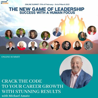 Cover art for Crack the code to your career growth with stunning results – Mike Amato