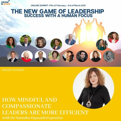 Cover art for How mindful and compassionate leaders are more efficient – Dr. Natasha Papazafeiropoulou