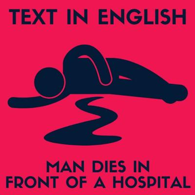 Cover art for MAN DIES IN FRONT OF A HOSPITAL (ADVANCED LEVEL) #Listening #Exercise