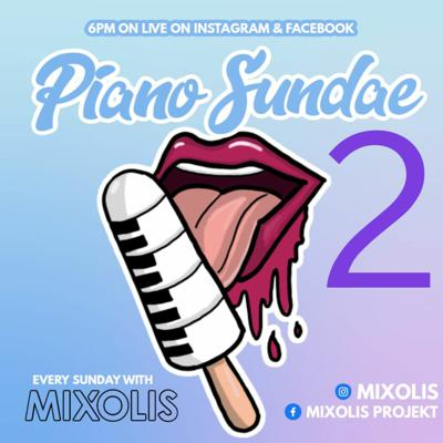 Cover art for PIANO SUNDAE 2 Facebook & Instagram Live 10 05 2020 AMAPIANO MIX