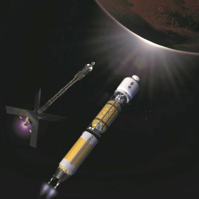 Cover art for Space Nuclear Propulsion for Human Mars Exploration