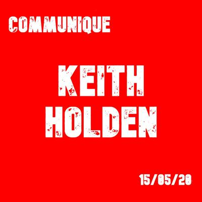 Cover art for Keith Holden 15/05/20