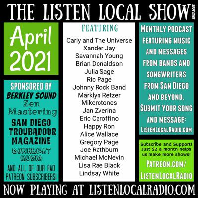 Cover art for APRIL 2021 Listen Local Show