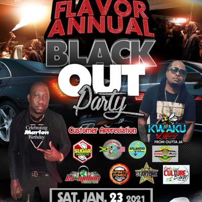 Cover art for EXCESS GLOBAL SOUND - FLAVOR ANNUAL BLACK OUT PARTY 1.23.2021 LIVE AUDIO
