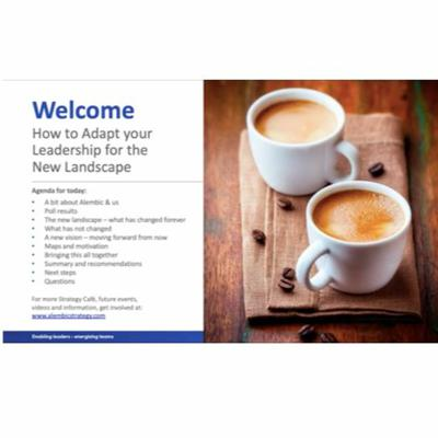 Cover art for Strategy Café: After the Pandemic, How to Adapt your Leadership for the New Landscape