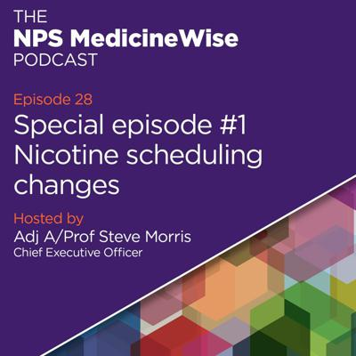 Cover art for Episode 28: Nicotine scheduling changes – Special episode #1