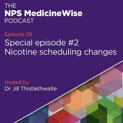 Cover art for Episode 29: Nicotine scheduling changes – Special episode #2