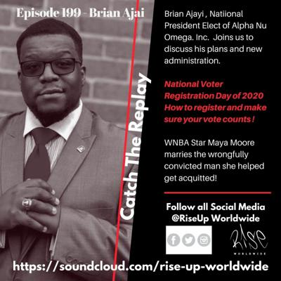 Cover art for Ep199 - ANQ Pres Brian Ajayi, Dr. Dre divorce trials, Maya Moore marries convict