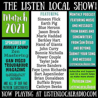 Cover art for MARCH 2021 Listen Local Show