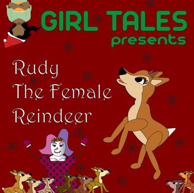 Cover art for Rudy the Female Reindeer: A Christmas Story by Delaney Yeager