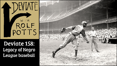 Cover art for On the road with the superstars of Negro League baseball, 100 years on