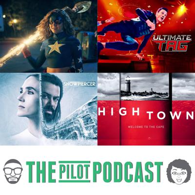 Cover art for Stargirl (The CW), Hightown (Starz), Snowpiercer (TNT), and Ultimate Tag (Fox)