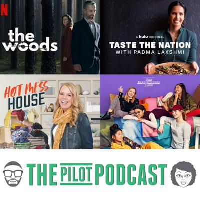 Cover art for The Baby-Sitters Club (Netflix), The Woods (Netflix), Taste the Nation (Hulu), and Hot Mess House (HGTV)