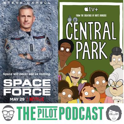 Cover art for Central Park (Apple TV+) and Space Force (Netflix)