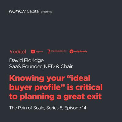 """Cover art for P514 - Knowing your """"ideal buyer profile"""" is critical to planning a great exit, with David Eldridge, SaaS Founder, NED and Chair"""
