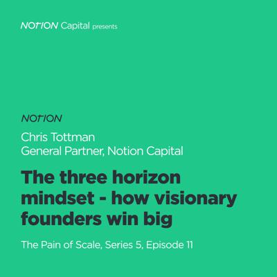 Cover art for P511 - The three horizon mindset - how visionary founders win big, with Chris Tottman, General Partner, Notion Capital