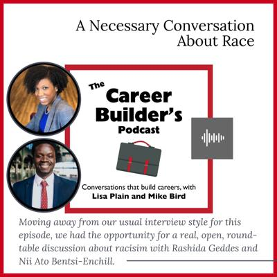 Cover art for A Necessary Conversation About Race with Nii Ato Bentsi-Enchill and Rashida Geddes