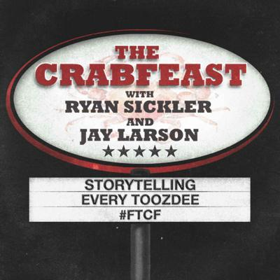The CrabFeast is hosted by comedians Ryan Sickler and Jay Larson. The show focuses on storytelling with new episodes every Toozdee. They've appeared on multiple tv shows and were finalists in the 2013 Stitcher Awards for Best Comedy Podcast.