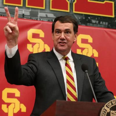 Cover art for Dan Weber on USC leadership discussing the viability of the 2020 college football season