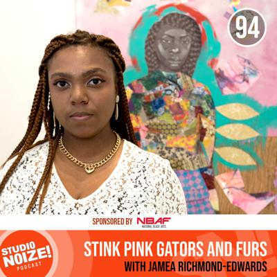 Cover art for Stink Pink Gators and Furs w/ artist Jamea Richmond-Edwards