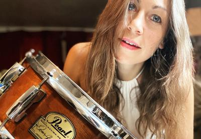 Cover art for Michelle Pietrafitta - Drumming up the music business