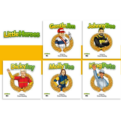 Cover art for Inside the creation of the 'Little Heroes' kids book series