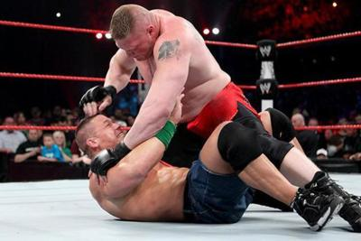 Cover art for Extreme Rules 2012: Brock Lesnar hurts John Cena