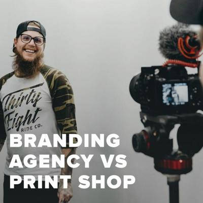 Cover art for Branding Agency Vs Screen Printing Shop With Golden Press Studio