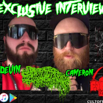 Cover art for Devin and Cameron of Sanguisugabogg Interview