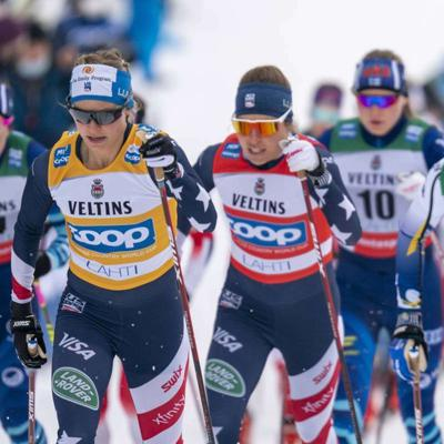 Cover art for Jessie Diggins: Post-Race Interview from the Lahti, Finland Skiathlon