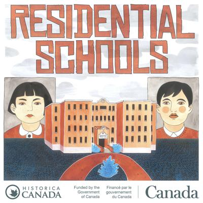 """""""Residential Schools"""" is a three-part podcast series created by Historica Canada and hosted by Shaneen Robinson-Desjarlais. It aims to commemorate the history and legacy of residential schools, and honour the stories of First Nations, Métis, and Inuit Survivors, their families, and communities.  The Residential Schools podcast series is part of a larger awareness campaign created by Historica Canada and funded by the Government of Canada. Along with the podcast series, Historica Canada also offers a video series, an education guide, and several new entries on The Canadian Encyclopedia about the history and legacy of residential schools.   Illustrations by Halie Finney."""