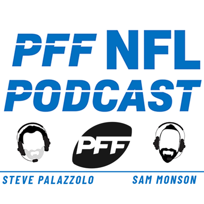 Steve Palazzolo and Sam Monson bring you an NFL podcast unlike any other, because it comes backed by Pro Football Focus and their unique data insights. PFF watches and grades every player on every play of the NFL season to give you a look inside the game nobody else can rival. From uncovering secret superstars around the league to discussing which teams are best positioned for a Super Bowl run, Steve and Sam use football's most in-depth database to create an informative listen for every level of NFL football fan. Come January, they turn their attention to the draft, because today's NFL has no off-season, and draw upon PFF's play-by-play grading of every FBS college game to shape their draft discussions. PFF knew Baker Mayfield was the No.1 player in the draft months before the Cleveland Browns pulled the trigger, so jump on board and let's talk football.