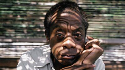 Cover art for James Baldwin's Fire