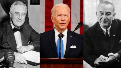 Cover art for Is Biden The Next FDR? or LBJ?