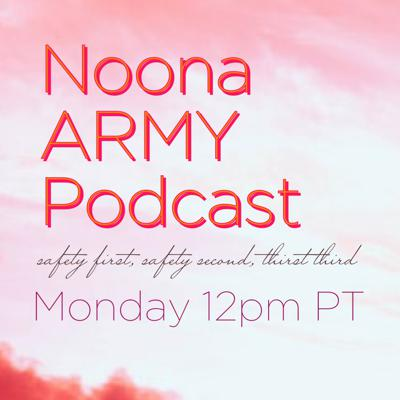 Noona ARMY Podcast(safety first, safety second, thirst third)Hosted by writer and BTS stan Virginia Duan of Mandarin Mama, this podcast discusses the particular challenges and aspects of being a middle aged female fan of K-pop global sensation BTS.Follow us on socials:https://noonaarmypodcast.comTw: @noonaarmypodIG: @noonaarmypodcastFB: @noonaarmypodcast
