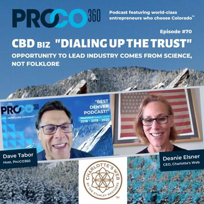 "Cover art for World's Largest CBD Biz ""Dialing Up the Trust"""
