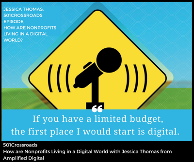 Cover art for How are Nonprofits Living in a Digital World with Jessica Thomas from Amplified Digital