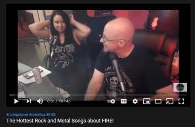 Cover art for The Hottest Rock and Metal Songs about FIRE!